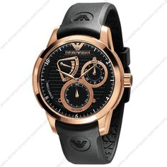 Emporio Armani AR4619 - Mens Meccanico Rose Gold Automatic Watch