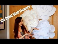 DIY Giant Wall Flower Decor | Bliss