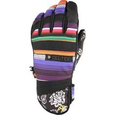 NWT Mens Celtek Faded Snow Gloves #DayOfDead Large 15K Storm Dry #Celtek