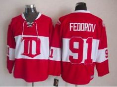 Detroit Red Wings #91 Sergei Fedorov Red 1926 Vintage CCM Hockey
