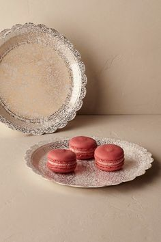 Gold Gilded Bouquet Plates (8) | BHLDN & paper floral cake plates | Corsage Paper Plates from BHLDN | Wedding ...