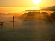 Sunset @ Golden Gate , San Francisco, California