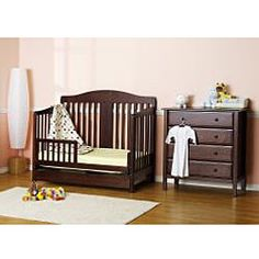 @Overstock - With unique engineering and rich finishes, this convertible crib from DaVinci gives you a lifetime of classic quality. In a few simple conversions, your crib becomes a toddler bed or a daybed.http://www.overstock.com/Home-Garden/DaVinci-Richmond-4-in-1-Crib-with-Toddler-Rail-in-Espresso/6292542/product.html?CID=214117 $213.04