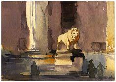 https://flic.kr/p/zsVByf | Odeon Platz | Little watercolor of Odeon Platz Munchen
