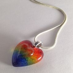 Rainbow Heart Pendant Pride Jewelry Focal Bead by cyvonneh on Etsy