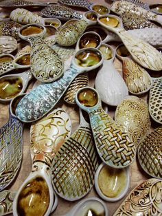 textured & soda-fired spoons by Gary Jackson : Fire When Ready Pottery