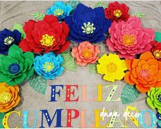 Flores de papel tema fiesta Paper flowers backdrop | Etsy Paper Flower Backdrop, Paper Flowers, Caramel Coffee Recipe, Mexican Party Decorations, 50th Birthday Party, Birthday Ideas, Party Centerpieces, Flower Backgrounds, Large Flowers