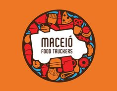 Maceio Food Trucker. (More design inspiration at www.aldenchong.com) #logo
