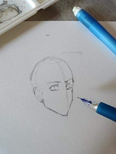 Anime Drawings Sketches, Pencil Art Drawings, Anime Sketch, Cool Drawings, Drawing Heads, Body Drawing, Drawing Techniques, Drawing Tips, Anime Poses Reference