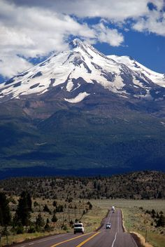 ...summit Mount Shasta...the snow is like frosting on cake...