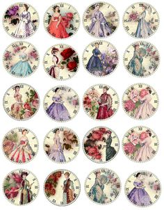 Vintage Labels Vintage Jane Austen 20 40 Round Glossy Coloful Stickers You Choose - Vintage Stickers, Vintage Labels, Vintage Postcards, Vintage Clocks, Papel Vintage, Decoupage Vintage, Vintage Pictures, Vintage Images, Bottle Cap Crafts