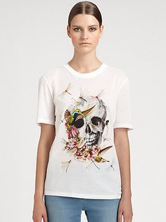 Alexander McQueen - Embroidered Dragonfly Tee - Saks.com This man designs freaking amazing things =)!!!
