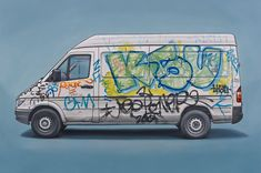 Believing that underground art is a culture that defies simple characterization, Jonathan LeVine will exhibit a variety of celebrated, controversial, and unknown artists. Graffiti Font, Graffiti Wall Art, Graffiti Drawing, Cool Vans, Hip Hop Art, Car Illustration, Car Drawings, American Artists, Street Art