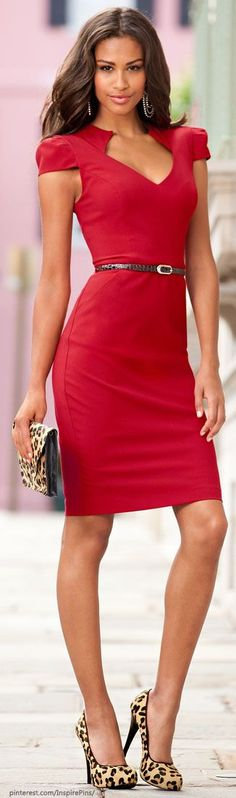 88 elegant red dress ideas make you look sexy Beauty And Fashion, Red Fashion, Passion For Fashion, Womens Fashion, Color Fashion, Ladies Fashion, Korean Fashion, Fashion Tips, Dresses 2013