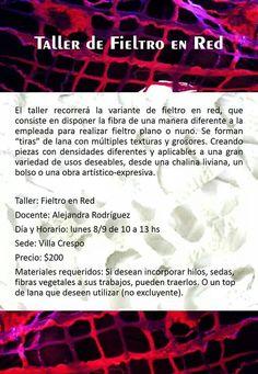 ¿Cómo generar una trama de Red con Fieltro? de eso tratará el taller Lana, Textiles, Movie Posters, Nuno Felting, Atelier, Film Poster, Popcorn Posters, Cloths, Film Posters