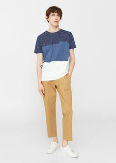 Pocket cotton t-shirt | MANGO MAN