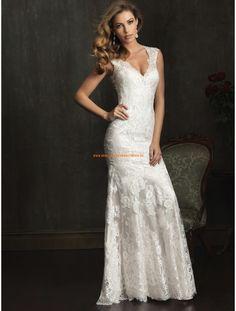 Allure Wunderschöne Elegante Brautkleider aus Softnetz mit Applikation