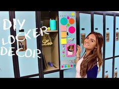 Back to SCHOOL: LOCKER DECORATIONS + DIY LOCKER DECOR - YouTube