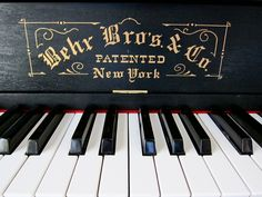 Emilie Johnson: A player piano.