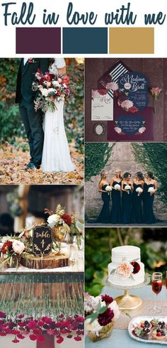 'Fall In Love With Me' Wedding Inspiration | Lucky in Love Blog yes I'm married but this is a beautiful wedding scheme