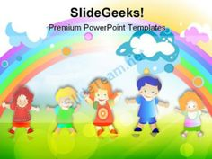 Happy Kids Children PowerPoint Templates And PowerPoint Backgrounds 0511  Presentation Themes and Graphics Slide01