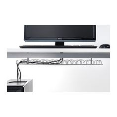 IKEA - SIGNUM, Cable management, horizontal, Collects your cables and cords together. Makes it easier to keep your work area tidy.