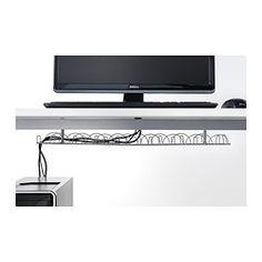 IKEA - SIGNUM, 가로형전선정리대, 전선과 컴퓨터 케이블을 정리할 수 있어서 작업공간이 깔끔해집니다.