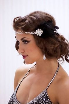 Roaring 20's Hairstyles For Long Hair 1920S Theme On Pinterest  Gats 1920S Hair And 1920S Within Roaring