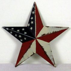 Flag Distressed Painted Metal Barn Star 8 Inch 5 99 Http Www Outerbankscountry American