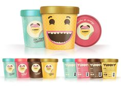 examples of well-designed Ice Cream packaging for your inspiration. Contains many kinds of ice cream packaging examples starts from cup, wrap to pint. Ice Cream Packaging, Coffee Packaging, Ice Cream Brands, Yummy Ice Cream, Packaging Design Inspiration, Food Design, Frozen, Mugs, Sweet