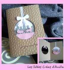 *Les Idées Créas d'Anita: le 23 décembre la carte boule de noel