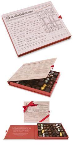 Declaration of Romantic Feelings boxed chocolates by Artisan du Chocolat