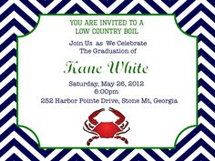 Crab Feast invitation by Cupcakes and Lemonade