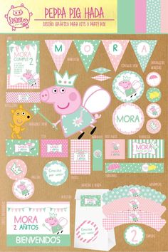 fun, cute Easter Bunny Rabbit Digital Papers by JennyL Designs Happy Easter, Easter Bunny, Easter Eggs, Cumple Peppa Pig, Pig Birthday, Birthday Ideas, Pig Party, Ideas Para Fiestas, Graphic Patterns