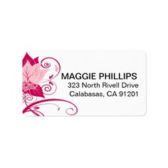 Abraxas Abstract Floral | pink magenta Custom Address Labels