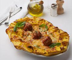 MEATBALL PIZZA. Burrata mozzarella, pomodoro sauce.