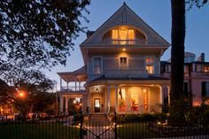 Our front door at dusk welcomes you home.  #NewOrleans #bedandbreakfast