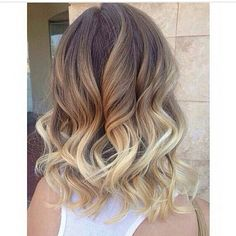 Best Ombre Hair, Brown Ombre Hair, Ombre Hair Color, Blonde Color, Brown Blonde, Medium Hair Styles, Curly Hair Styles, Hair Medium, Peinado Updo
