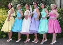 Rainbow wedding theme Inspiration needed please, Kept Elegant :  wedding bouquet bridesmaid cake dress dresses ideas inspiration rainbow shoes theme wedding 427950079 O