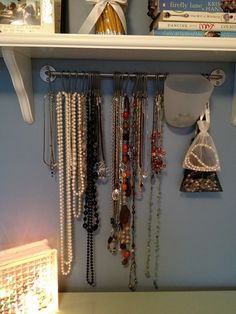 I already have one and love it in my kitchen, great idea to hod my necklaces!
