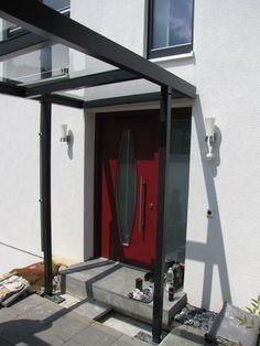 Eingangsüberdachung Metall Vordach Glas Stahl