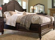 Tobacco Steel Magnolia Queen Bed. 1 of 3 pieces of Paula Deen Furniture I own. Bought them at Wolf's Furniture in MD.