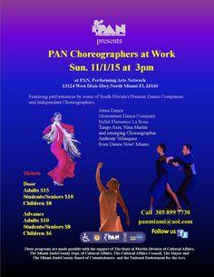 Coreographers at Work at at PAN, Performing Arts Network Miami