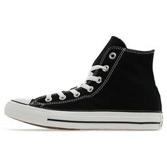 Converse All Star Hi Women's ($68) ❤ liked on Polyvore featuring shoes, black, kohl shoes, converse footwear, converse shoes, star shoes and canvas footwear