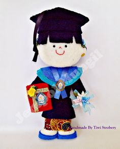 This is felt doll graduation