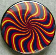 "TRIPPY SPIRAL pinback button badge 1.25"" Just $1.50 plus shipping!"