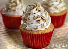 Cupcake de aveia e mel