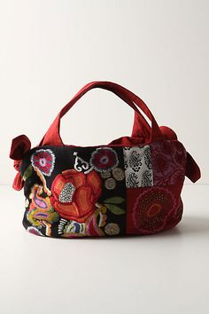 Poppy Pastiche Bag All of my favorites! Handmade purse, poppies and free motion!!