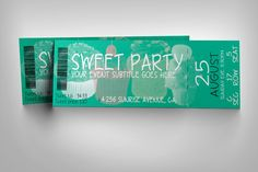 Cupcake event ticket by studioweb on @creativemarket