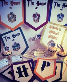 Wizard Houses Party Package With Activities, Favors, and Banner on Etsy, $25.00